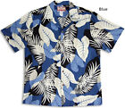 Sassy Garden Leaves Men's vintage RJC aloha Shirt  made in Hawaii
