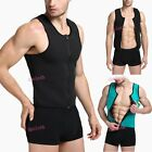 Men Ultra Sweat Muscle Shirts Fitness Clothing Neoprene Top For Men With Zipper