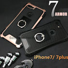 For iPhone 7 7 Plus Phone Case Skin Cover With 360° Finger Ring Stand Holder