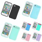 Two-Tone/NightGlow Jelly Hybrid Hard Silicone Case Cover For Apple iPhone 4 / 4S