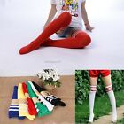 Men Women Stockings Long Hosiery Striped Thigh High Socks Sport Cheerleader Sock