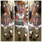New Sexy Womens 2PCS Clubwear Party Outfit Bodycon Bandage Africa Print Jumpsuit