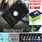 """Hybrid Armor Shockproof Case Stand Cover For iPad 2/3/4 / For iPad Pro 9.7"""" inch"""