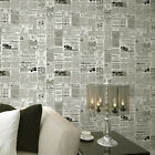 Vintage English Letter Newspaper Wallpaper Study Room Covering Decor Cream/Beige