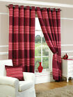 Ring Top Eyelet Striped SINGLE PANEL DOOR CURTAIN  Red, Pink & Wine.3 Sizes.NEW!