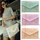 New Fashion Women Vintage Hollow Out Floral Envelope Shape Cross Body B20E