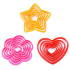 6 Pcs 3D Star Decoration Cutter Cookie Biscuit Set for Gift Christmas Tree JR