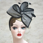 Внешний вид - Womens Sinamay Fascinator Cocktail Hat Wedding Church Party Kentucky derby T163