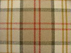Sterling Duck Egg And Blue Wool Effect Washable Tartan Upholstery Curtain Fabric