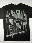 Zoo York NYC 1993 skate short sleeve t shirt men's black heather size MEDIUM