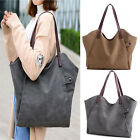 Large Women Canvas Handbag Shoulder Bag Cross Body Bag Tote Messenger Satchel