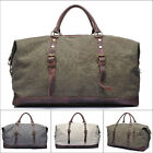 Men's Canvas Leather Large Bag Travel Shoulder messenger Bag Handbag Travel Bag