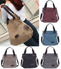 New Women Canvas Casual Handbag Pure Color Shoulder Bag Lady Purse Messenger Bag