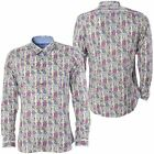 Maddox Street Gabicci Mens Branded Woven Shirt Button Up Floral Top S-3XL