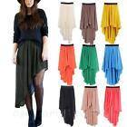 JPCLOTH Ruffle mullet Womens Asymmetrical Ladies Chiffon sheer long Skirt Size S