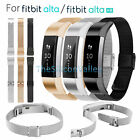 Milanese Stainless Steel Mesh Loop Bracelet Strap w/ Clasp For Fitbit Alta / HR