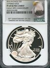 2016 W SILVER EAGLE LETTERED EDGE 30TH ANN. NGC PF69 ULTRA CAMEO (EAGLE) NOT ER