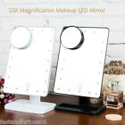 20 LEDs Lighted Make-up Cosmetic Mirror 10X Magnifier Adjustable Vanity Touch AU