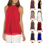 Fashion Women Chiffon Sleeveless Business Blouse Tops Office Casual Loose Shirt