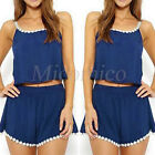 Women Ladies Clubwear Summer Lace Sleeveless Playsuit Party Jumpsuit Romper