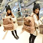 Fashion Lady Women's Young Cute Plush Bag Backpack College Campus Book EN24H01