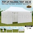 OGL 3x6M Pop Up Outdoor Gazebo Folding Tent Market Party Marquee Shade Canopy