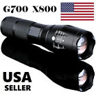 USA 8000LM 5 Modes T6 Zoomable LED 18650 Flashlight Torch Lamp Light G700 X800