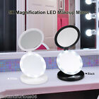 1X / 5X Magnify LED Lighted Mirror Portable Cosmetic Makeup Mirror 2 Side Beauty