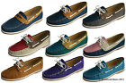 Ladies Coolers Faux Nubuck Leather Loafer Lace Up Boat Deck Shoes Sizes 4 - 8