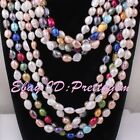 7x8-8x9mm Natural Freshwater Pearl Beads Freeform Gemstone Fashion Necklace 45""