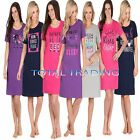 Ladies WOMENS Night Shirt Nightdress womens Nightie Nightshirt  COTTON
