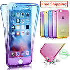 Shockproof  360° Silicone Protective Clear Case Cover For iPhone 5 6 6plus 7plus