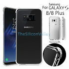 For Samsung Galaxy S8/S8 Plus Shockproof  Soft TPU Crystal Clear Skin Case Cover