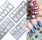 BORN PRETTY Stamping Guide Plates Nail Stencil Template Stainless Steel Tools