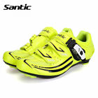Santic Women Road Bike Bicycle Cycling Lock Shoes Look SPD-SL System Yellow