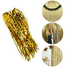 Внешний вид - Metallic Gold Foil Fringe Curtain NEW YEARS EVE  Party Decor  3ft x 8ft