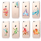 Hot Watercolor Classic Disney Figure Gadgets Original Hard Cover Case For iPhone
