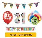 AGE 21 - Happy 21st Birthday Party Banners, Balloons & Decorations