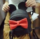 Casual womens bowknot Korean small backpack PU leather mini shoulder Girls bags