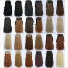 """22"""" 55cm Women Kinky Curly Ribbon Ponytail Hairpiece Clip In Hair Extensions 90g"""