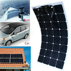 Sunpower 100W 18V Semi Flexible Mono Ultra Thin Car Boat Solar Panel Charger