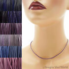 1.5 mm Purple Leather Cord Necklace or Choker Custom Length colors Handmade USA