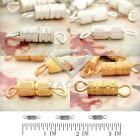 30g 50pcs Screw in Clasp Fermoirs Collier Bracelet Chaîne Bijoux 14/14.5/15.5mm
