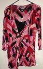 EUC - ESSENTIALS Women's Multi-Colored Polyester TOP/BLOUSE Size 1X