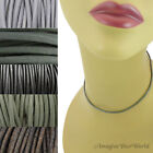 2 mm Gray Leather Cord Necklace or Choker Custom Length pick colors Handmade USA