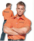 ORANGE PRISONER SHIRT ADULT COSTUME Halloween Cosplay Fancy Dress M7