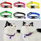 Adjustable Pet Cat Dog Puppy Glossy Reflective Collar Safety Buckle Bell Strap