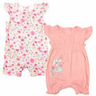 Girls Pack of 2 Floral Frill Playsuit Romper Newborn to 3 Months SALE