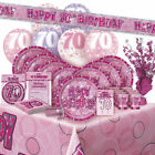 ALTER 70 - Happy 70th Birthday ROSA GLANZ - Party Reihe, Banner & Dekorationen
