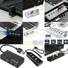 7 /4 /3 Port USB 3.0/2.0 1.1 Speed Power HUB ON/OFF Switch For Laptop Macbook US